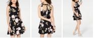B Darlin Juniors' Tiered Open-Back Fit & Flare Dress