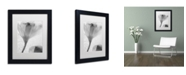 "Trademark Global Moises Levy 'Flowers on Ice-13' Matted Framed Art - 11"" x 14"" x 0.5"""