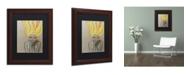 """Trademark Global Sylvie Demers 'Miss Sunshine' Matted Framed Art - 14"""" x 11"""" x 0.5"""""""