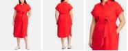 Lauren Ralph Lauren Plus Size Linen Shirtdress
