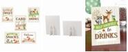 Lillian Rose Set of 5 Woodland Baby Shower Decor Signs