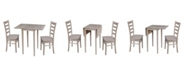 WHITEWOOD INDUSTRIES/INTNL CONCEPTS Small Drop Leaf Table with Two Chairs
