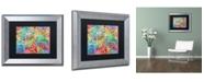 """Trademark Global Michael Tompsett 'Glasgow Street Map' Matted Framed Art - 11"""" x 14"""""""