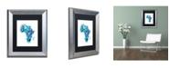 """Trademark Global Michael Tompsett 'Paint Splashes Map of Africa' Matted Framed Art - 11"""" x 14"""""""