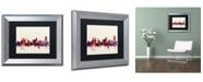 """Trademark Global Michael Tompsett 'Buffalo New York Skyline' Matted Framed Art - 11"""" x 14"""""""