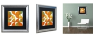 "Trademark Global Michelle Calkins 'Four Suns Quartered 3.0' Matted Framed Art - 16"" x 16"""