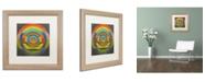 "Trademark Global Michelle Calkins 'Full Circle 2.0' Matted Framed Art - 16"" x 16"""