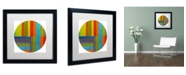 "Trademark Global Michelle Calkins 'Round' Matted Framed Art - 16"" x 16"""