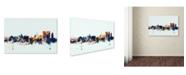 "Trademark Global Michael Tompsett 'Calcutta India Skyline Blue' Canvas Art - 12"" x 19"""