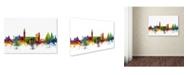 "Trademark Global Michael Tompsett 'Venice Italy Skyline White' Canvas Art - 12"" x 19"""