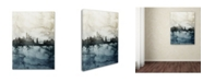 "Trademark Global Michael Tompsett 'New York Skyline Tall' Canvas Art - 14"" x 19"""