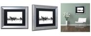"""Trademark Global Michael Tompsett 'Baltimore Maryland Skyline B&W' Matted Framed Art - 11"""" x 14"""""""