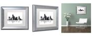 "Trademark Global Marlene Watson 'Dallas Texas Skyline BG-1' Matted Framed Art - 11"" x 14"""