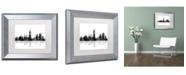 "Trademark Global Marlene Watson 'Indianapolis Indiana Skyline BG-1' Matted Framed Art - 11"" x 14"""