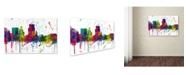 "Trademark Global Marlene Watson 'Boise Idaho Skyline Mclr-1' Canvas Art - 12"" x 19"""
