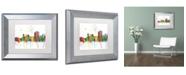 "Trademark Global Marlene Watson 'Trenton New Jersey Skyline Mclr-1' Matted Framed Art - 11"" x 14"""
