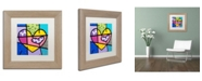 "Trademark Global Roberto Rafael 'Big Heart IV' Matted Framed Art - 11"" x 11"""