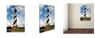 "Trademark Global PIPA Fine Art 'Cape Hatteras Lighthouse' Canvas Art - 12"" x 19"""