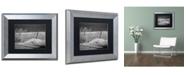 """Trademark Global PIPA Fine Art 'Sandy Beach Fence' Matted Framed Art - 11"""" x 14"""""""