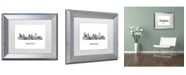 "Trademark Global Marlene Watson 'Memphis Tennessee Skyline WB-BW' Matted Framed Art - 11"" x 14"""