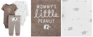Carter's Baby Boys & Girls 3-Pc. Elephant Bodysuits & Pants Set
