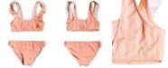 Roxy Big Girls 2-Pc. Ruffle-Trim Bikini