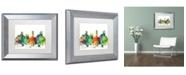 "Trademark Global Marlene Watson 'Denver Colorado Skyline SP' Matted Framed Art - 11"" x 14"""