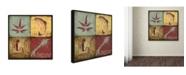 "Trademark Global Stephanie Marrott 'Lodge 4 Patch IV' Canvas Art - 14"" x 14"""