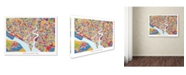 "Trademark Global Michael Tompsett 'Southampton England City Map' Canvas Art - 14"" x 19"""