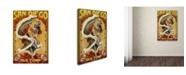 "Trademark Global Lantern Press 'Skeleton' Canvas Art - 12"" x 19"""