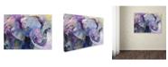 "Trademark Global Richard Wallich 'Blue Elephant' Canvas Art - 14"" x 19"""