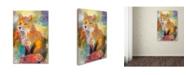 "Trademark Global Richard Wallich 'Fox' Canvas Art - 12"" x 19"""
