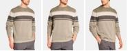 Weatherproof Vintage Men's Striped Stonewashed Sweater