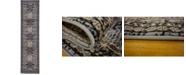 "Bridgeport Home Charvi Chr1 Gray 2' 7"" x 10' Runner Area Rug"