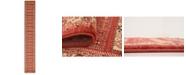 """Bridgeport Home Ojas Oja4 Rust Red 2' 7"""" x 19' 8"""" Runner Area Rug"""