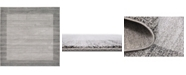 Bridgeport Home Lyon Lyo4 Light Gray 8' x 8' Square Area Rug