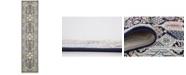 Bridgeport Home Zara Zar4 Navy Blue 3' x 13' Runner Area Rug