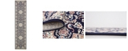 Bridgeport Home Zara Zar5 Navy Blue 3' x 13' Runner Area Rug