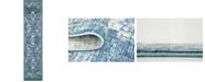 Bridgeport Home Masha Mas8 Navy Blue 3' x 13' Runner Area Rug