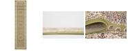 Bridgeport Home Zara Zar1 Green 3' x 13' Runner Area Rug