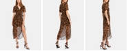 Bardot Animal-Print Wrap Dress