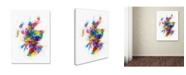 "Trademark Global Michael Tompsett 'Scotland Paint Splashes Map' Canvas Art - 18"" x 24"""