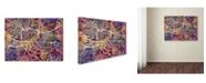 "Trademark Global Michael Tompsett 'Glasgow Street Map II' Canvas Art - 18"" x 24"""