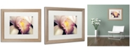 """Trademark Global PIPA Fine Art 'Close-Up of Orchid' Matted Framed Art - 16"""" x 20"""""""