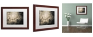 """Trademark Global PIPA Fine Art 'Sepia Aged Rhododendron Blooms' Matted Framed Art - 16"""" x 20"""""""