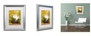 "Trademark Global PIPA Fine Art 'Steam Train with Autumn Foliage' Matted Framed Art - 16"" x 20"""