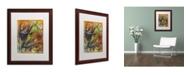 "Trademark Global Shana Doumingez 'Bright Swoon' Matted Framed Art - 16"" x 20"""