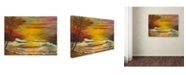 "Trademark Global Manor Shadian 'A Tropical Lagoon' Canvas Art - 24"" x 18"""
