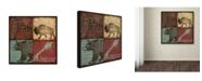 "Trademark Global Stephanie Marrott 'Lodge 4 Patch I' Canvas Art - 18"" x 18"""