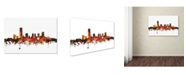 "Trademark Global Michael Tompsett 'Oklahoma City Skyline III' Canvas Art - 16"" x 24"""